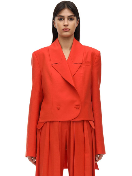 MATÉRIEL High Low Cool Wool Blazer in red