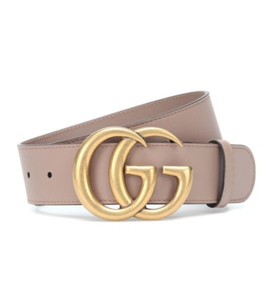 Gucci GG leather belt in pink