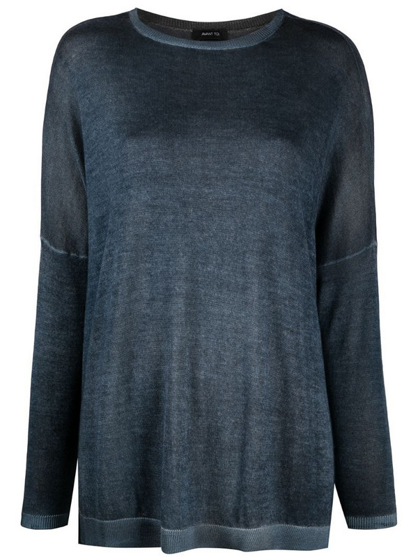 Avant Toi faded dropped shoulder jumper in blue