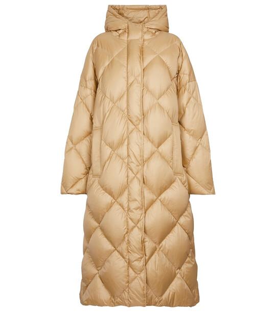 Stand Studio Farrah quilted down coat in beige
