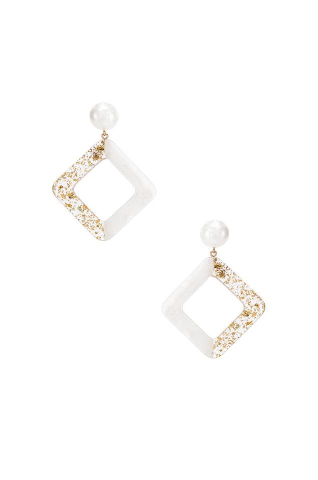 Amber Sceats Jetta Earrings in white