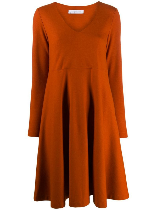 Harris Wharf London relaxed midi dress in orange