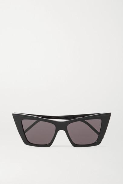 SAINT LAURENT - Cat-eye Acetate Sunglasses - Black