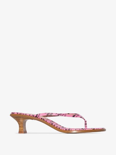 Sies Marjan pink alix 40 thong sandals