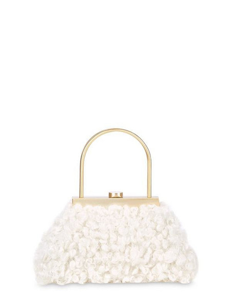 CULT GAIA Estelle Mini Faux Fur Top Handle Bag in white