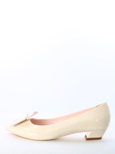 Roger Vivier Ballerina Gommettine White