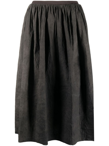Uma Wang gathered-detail full skirt in grey