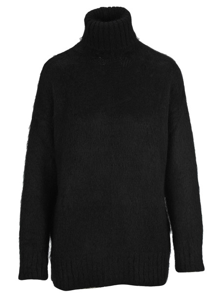 N.21 N21 High Neck Knit Jumper in black