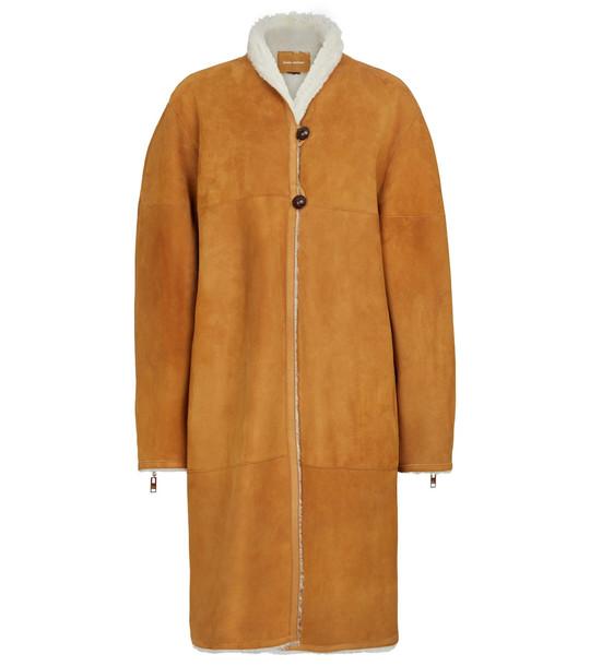 Isabel Marant Abazoe reversible shearling coat in beige