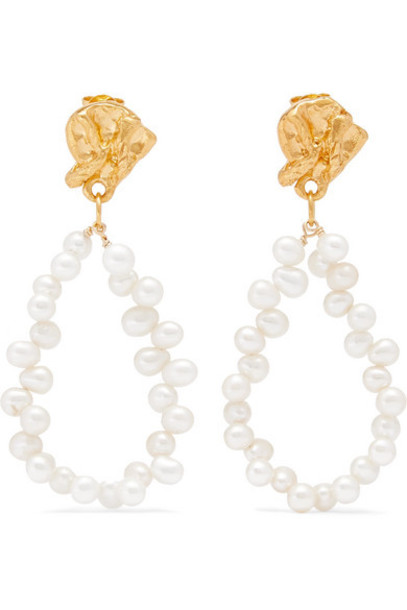 Alighieri - Apollo's Story Gold-plated Pearl Earrings