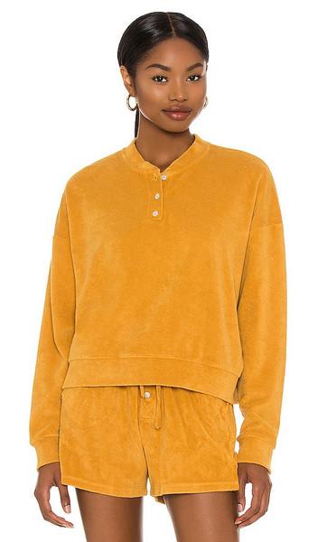DONNI. DONNI. Terry Henley Sweatshirt in Mustard