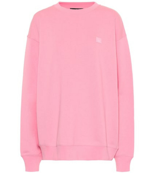 Acne Studios Face cotton sweatshirt in pink