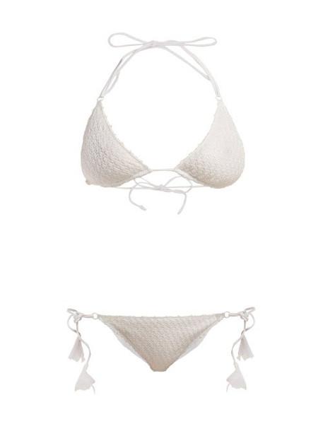 Missoni Mare - Bridal Diamond Crochet Knit Bikini - Womens - White