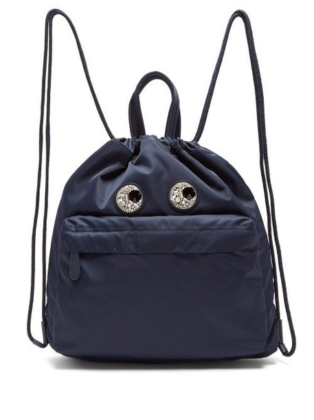 Anya Hindmarch - Eyes Shell Backpack - Womens - Navy