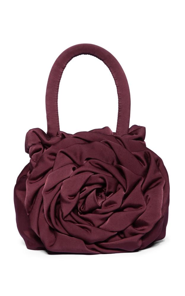 Staud Rose Leather Top Handle Bag in purple