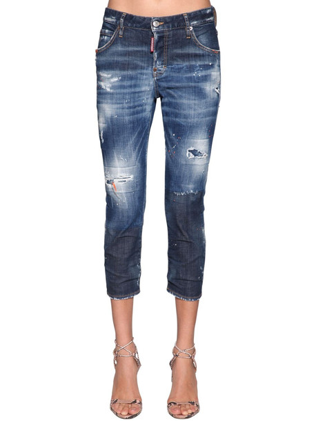 DSQUARED2 Cool Girl Denim Cropped Jeans in blue