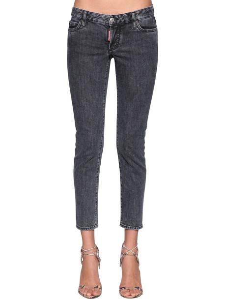 DSQUARED2 Jennifer Cropped Denim Jeans in grey
