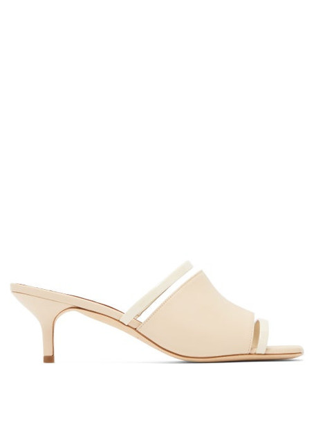 Malone Souliers - Laney Leather Mules - Womens - Cream