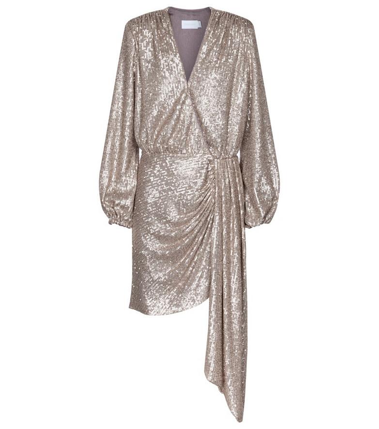 Jonathan Simkhai Roxi sequined minidress in beige