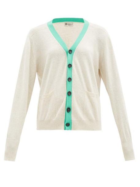 Connolly - Art Colour-block Cotton Cardigan - Womens - Green Multi