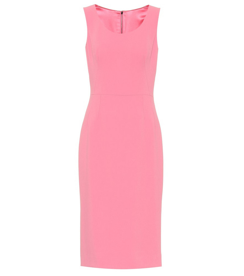 Dolce & Gabbana Cady midi dress in pink