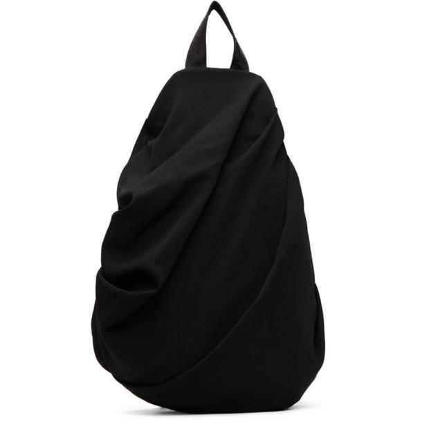 Yohji Yamamoto Black Drape Backpack