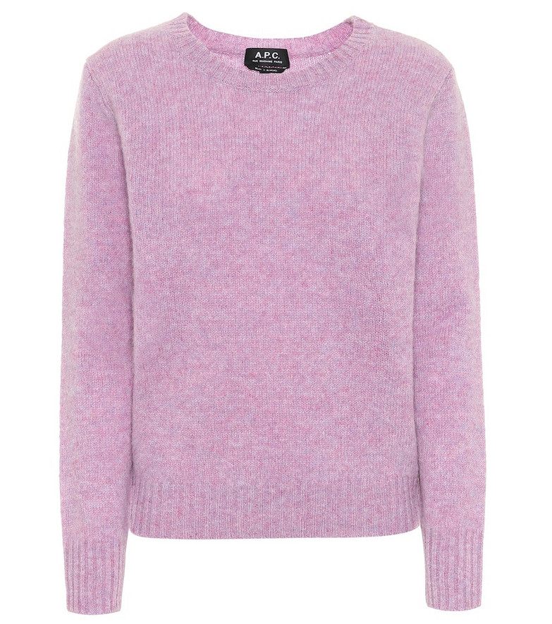 A.P.C. Léonie wool sweater in purple