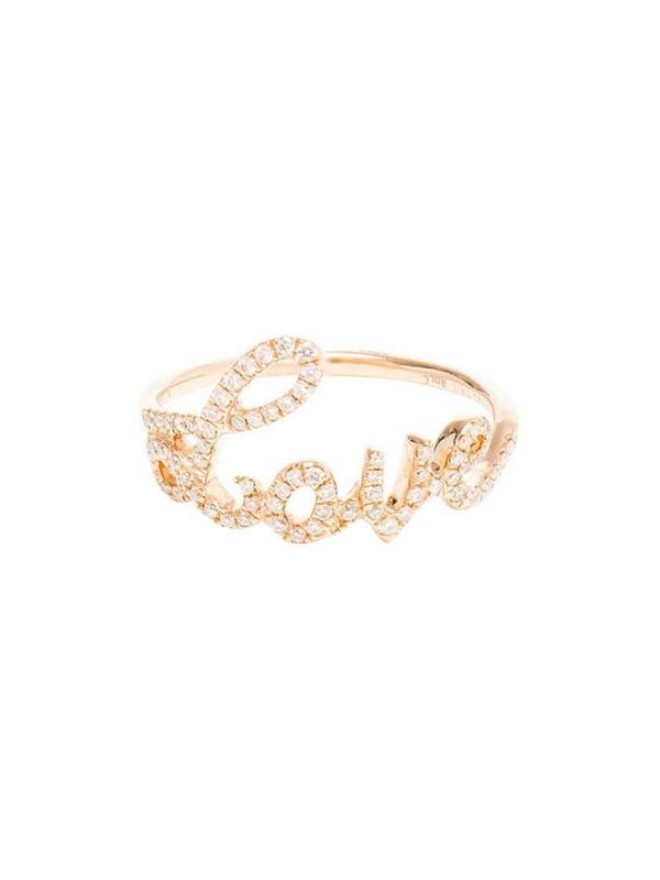 Rosa de la Cruz Diamond Love Ring in white