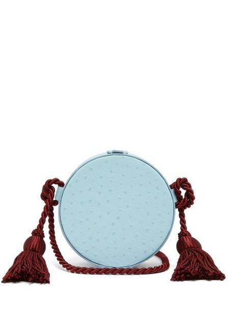 Hillier Bartley - Tassel Embellished Leather Cross Body Bag - Womens - Light Blue