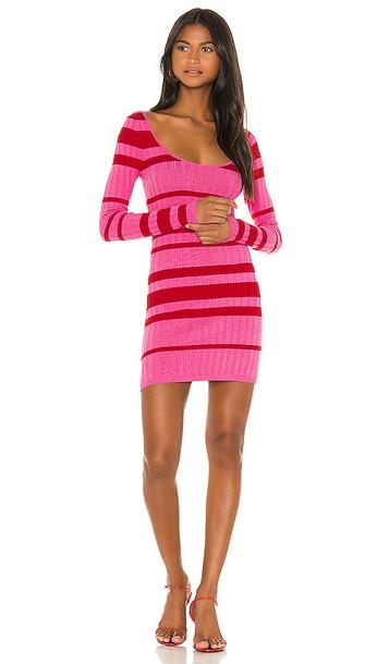 Camila Coelho Roxanne Sweater Dress in Pink