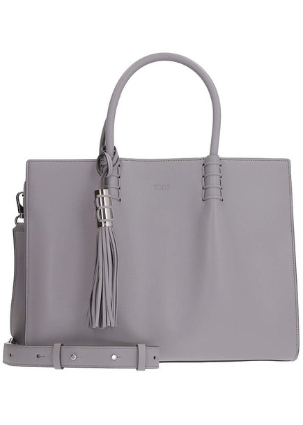 Tod's Smooth Leather Tote-bag in grey