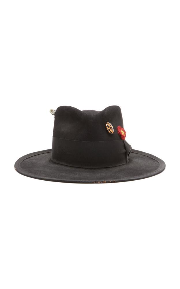 Nick Fouquet Los Crudos Felt Hat in black