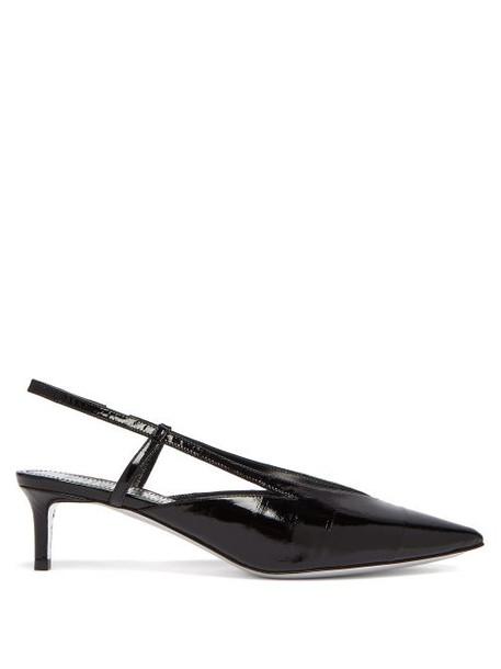 Givenchy - Point Toe Eel Skin Slingback Pumps - Womens - Black