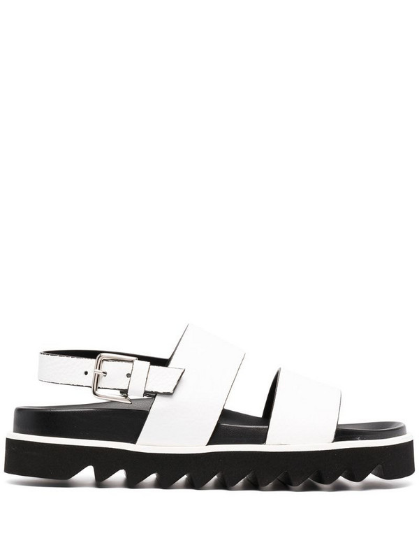 P.A.R.O.S.H. double-strap sandals in white