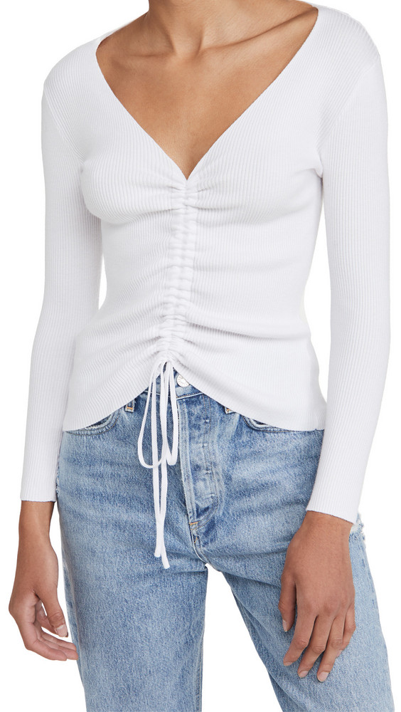 Lioness Chester Knit Top in white