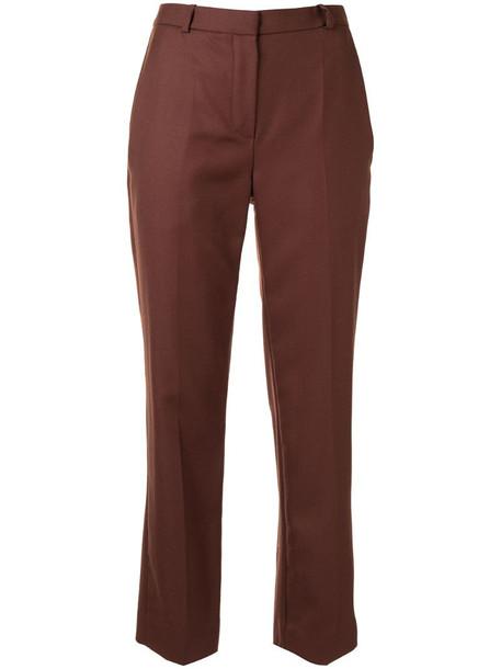 Oscar de la Renta high-rise tailored trousers in brown
