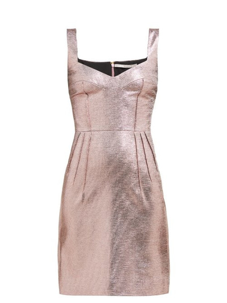 Emilia Wickstead - Judita Lamé Mini Dress - Womens - Pink