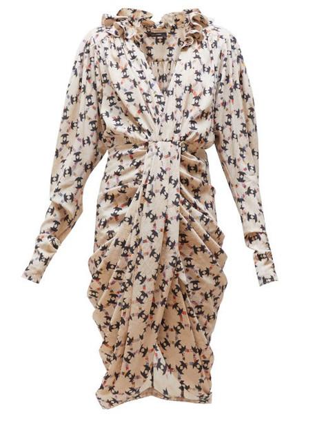 Isabel Marant - Blandine Printed Silk Blend Dress - Womens - Ivory Multi