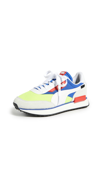 PUMA Future Rider Play On Sneakers in white / yellow