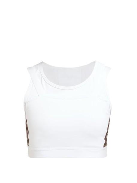 Calvin Klein Performance - Racerback Double Strap Sports Bra - Womens - White