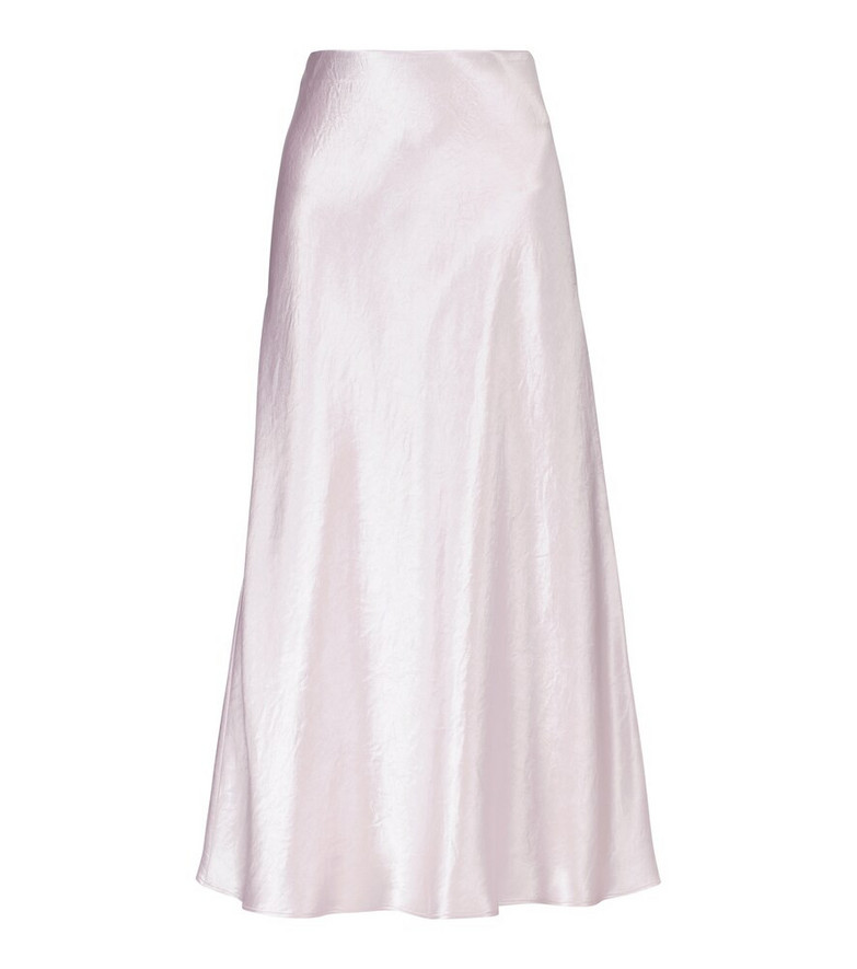 Max Mara Leisure Alessio satin midi skirt in pink
