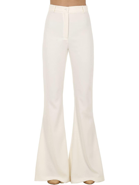 HEBE STUDIO Bianca Viscose Cady Flared Pants in white