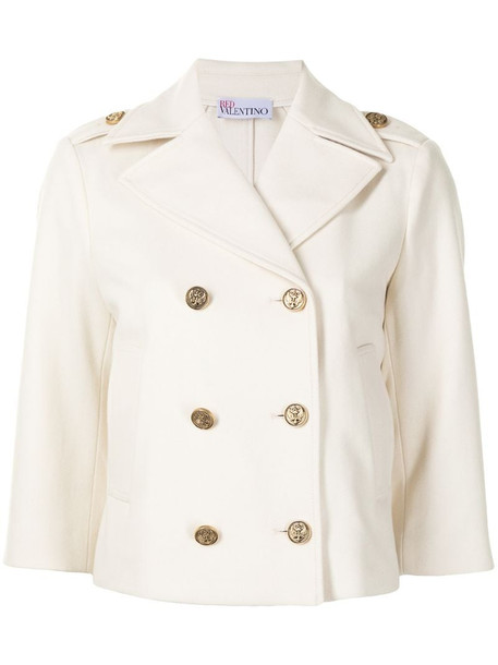 RED Valentino double-breasted jacket in neutrals