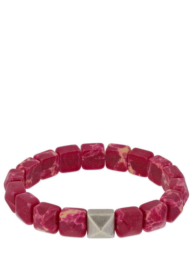 ISABEL MARANT Multi-bead Resin Bracelet in fuchsia / silver