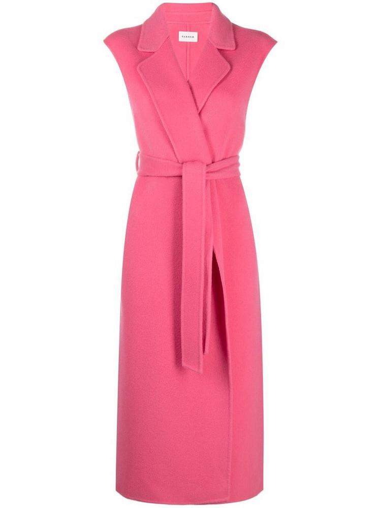 P.A.R.O.S.H. P.A.R.O.S.H. Leak sleeveless belted coat - Pink