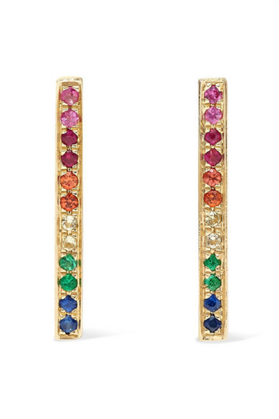 Sydney Evan - 14-karat Gold Sapphire Earrings