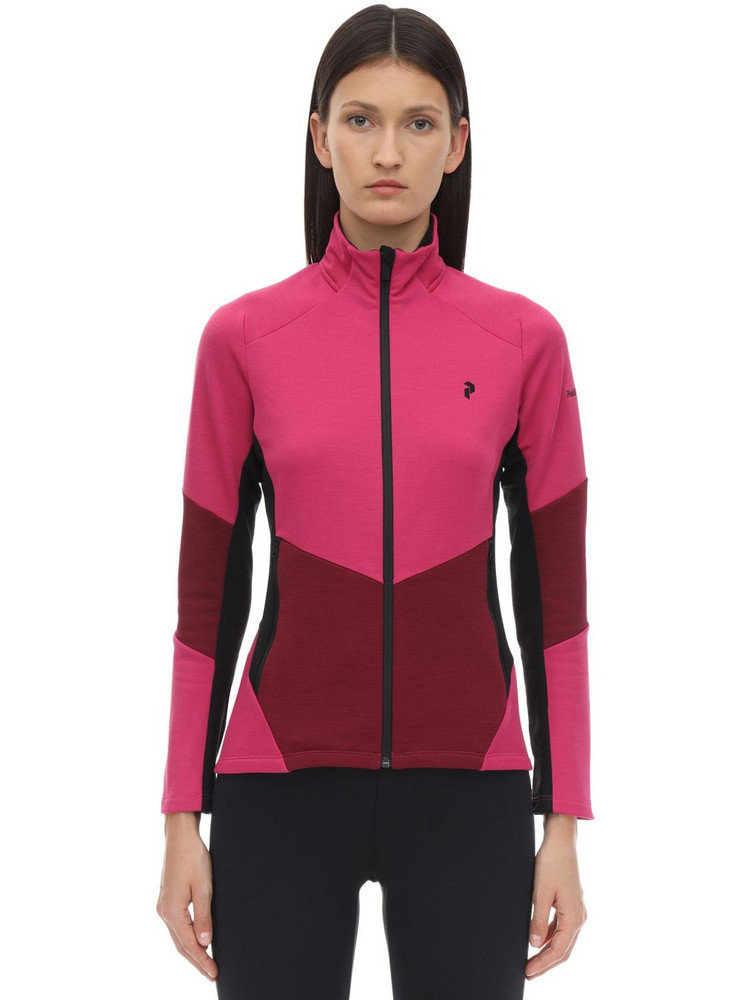 PEAK PERFORMANCE W Helo Mid Zip Jacket in pink