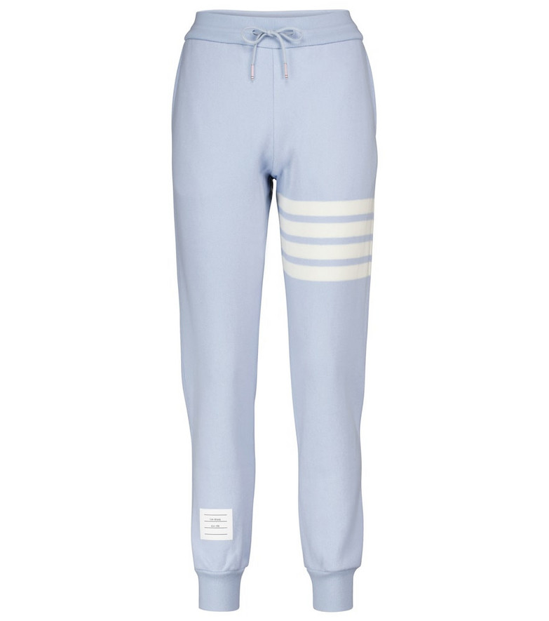 Thom Browne Cashmere and cotton-blend sweatpants in blue