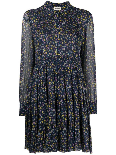 Zadig&Voltaire star-print shirt dress in blue