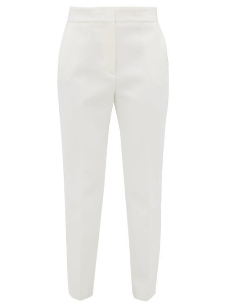 Msgm - Tapered Crepe Trousers - Womens - White